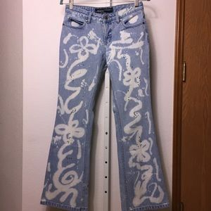 Steven Hardy Squeeze Rhinestones Flare Jeans